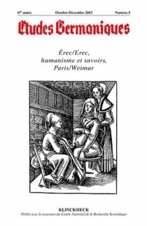 Etudes germaniques, n° 268 -