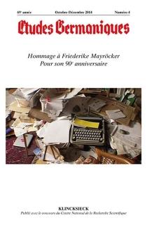 Etudes germaniques, n° 4 (2014) -
