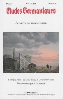 Etudes germaniques, n° 2 (2015) -