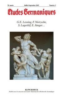 Etudes germaniques, n° 3 (2015) -