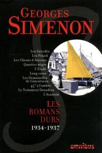 Les romans durs | Volume 2, 1934-1937 - GeorgesSimenon
