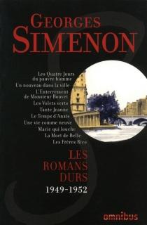 Les romans durs | Volume 8, 1949-1952 - GeorgesSimenon
