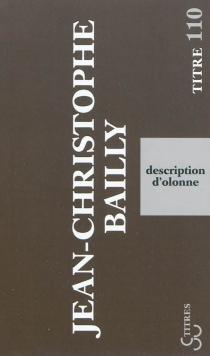 Description d'Olonne - Jean-ChristopheBailly