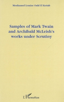 Samples of Mark Twain and Archibald McLeish's works under scrutiny - Mouhamed Lemine Ould elKettab