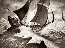 Marines : vents, tempêtes, pinceaux secs et crayons gras - Riff Reb's