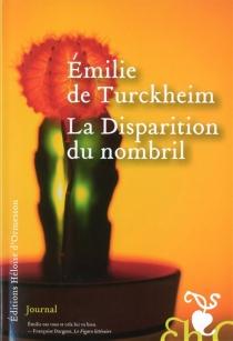 La disparition du nombril : journal - Emilie deTurckheim