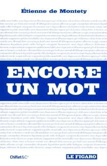 Encore un mot - Etienne deMontety