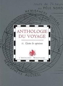 Anthologie du voyage -