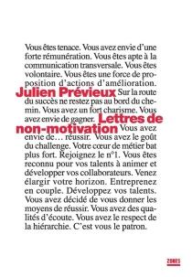 Lettres de non-motivation - JulienPrévieux