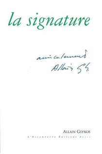 La signature - AllainGlykos