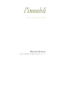 L'inoubli : suivi d'un épilogue - BernardRuhaud