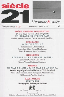 Siècle 21, littérature et société, n° 25 -