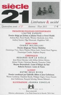 Siècle 21, littérature et société, n° 27 -