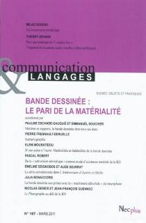 Communication et langages, n° 167 -