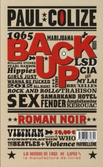 Back up : roman noir - Paul Colize