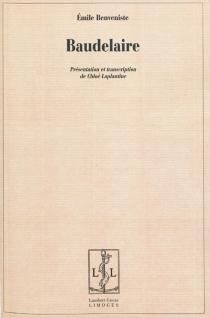 Baudelaire - ÉmileBenveniste