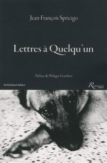 Lettres à quelqu'un - Jean-FrançoisSpricigo