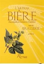 L'article Bière| Suivi de Brasserie : Encyclopédie de Diderot et d'Alembert, in vol. II -