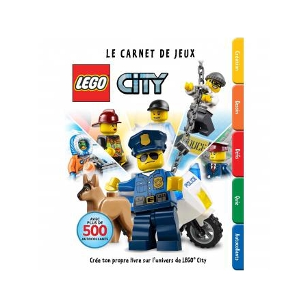 lego city le carnet de jeux autocollants stickers et gommettes espace culturel e leclerc. Black Bedroom Furniture Sets. Home Design Ideas