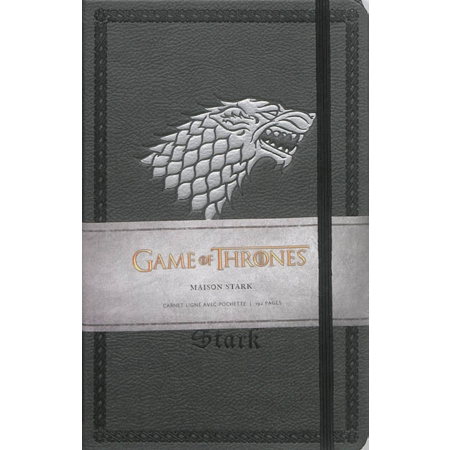 carnet luxe stark game of thrones maison stark calendriers et almanachs espace culturel. Black Bedroom Furniture Sets. Home Design Ideas