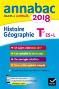 Histoire géographie terminale ES, L : 2018