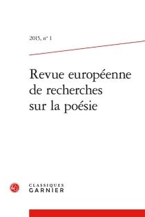 Revue européenne de recherches sur la poésie, n° 1 -