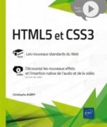 HTML5 et CSS3 : livre, les nouveaux standards du web : vidéo, découvrez les nouveaux effets et l'insertion native de l'audio et de la vidéo - ChristopheAubry