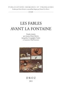 Les fables avant La Fontaine -