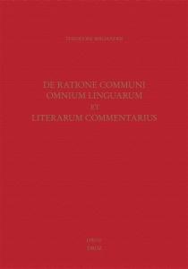 De ratione communi omnium linguarum et literarum commentarius - TheodorBibliander