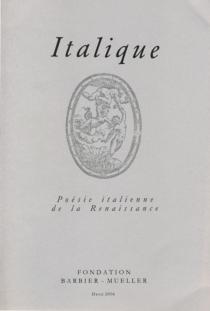 Italique, poésie italienne de la Renaissance, n° 18 -