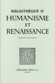 Bibliothèque d'humanisme et Renaissance, n° 77-3 -