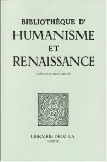 Bibliothèque d'humanisme et Renaissance, n° 77-1 -