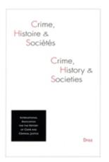 Crime, histoire et sociétés, n° 1 (2017) -