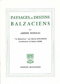 Paysages et destins balzaciens - AmédéePonceau