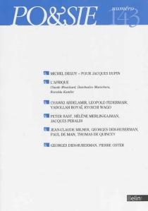 Poésie, n° 143 -