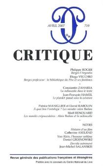 Critique, n° 719 -
