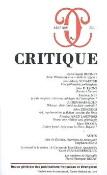 Critique, n° 720 -