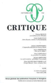 Critique, n° 725 -