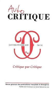 Critique, n° 740-741 -