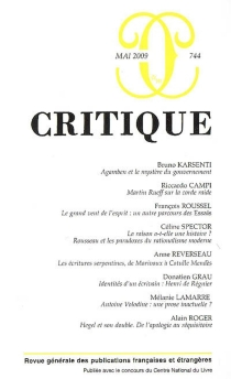 Critique, n° 744 -