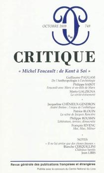 Critique, n° 749 -