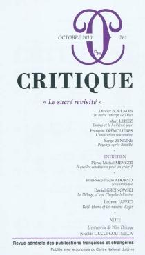 Critique, n° 761 -