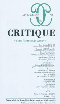 Critique, n° 762 -