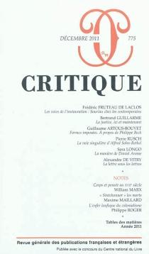 Critique, n° 775 -