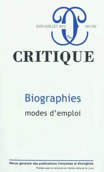 Critique, n° 781-782 -
