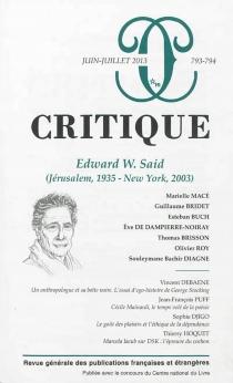 Critique, n° 793-794 -