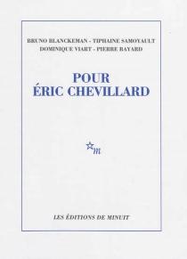 Pour Eric Chevillard -