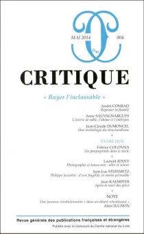 Critique, n° 804 -