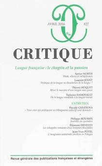 Critique, n° 827 -