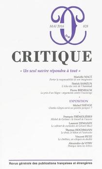 Critique, n° 828 -